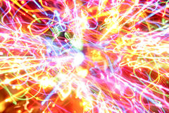 Vibrant lights in motion Royalty Free Stock Photography
