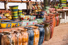 Vibrant Mexican Pottery Royalty Free Stock Images