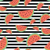Vibrant stripe watermelon background. A vibrant, modern, and flexible pattern for brand who has edgy style, It can use for background, wallpaper, print, card Royalty Free Stock Photos