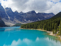 Vibrant Moraine Lake on a Summers Day Stock Image