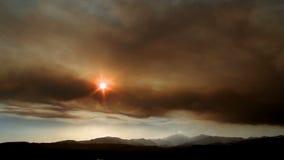 Vibrant mountain sunset timelapse. Video of vibrant mountain sunset timelapse stock video footage