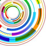 Vibrant Multicolored Concentric Circle Disk Pattern Different Textures. Creative Background Idea for Digital Image royalty free illustration