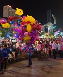 Vibrant night scene at Luna New Year, Saigon Royalty Free Stock Images