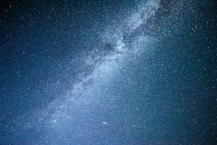Vibrant night sky with stars and nebula and galaxy. Deep sky astrophoto Royalty Free Stock Photos