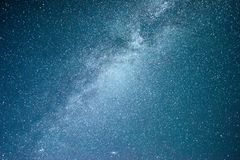 Vibrant night sky with stars and nebula and galaxy. Deep sky astrophoto Royalty Free Stock Photo