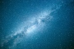 Vibrant night sky with stars and nebula and galaxy. Deep sky astrophoto Stock Image