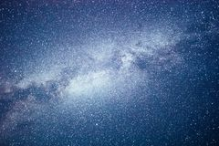 Vibrant night sky with stars and nebula and galaxy. Deep sky astrophoto.  stock photo