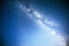 Vibrant night sky with stars and nebula and galaxy. Deep sky astrophoto Stock Photo