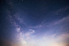 Vibrant night sky with stars and nebula and galaxy. Deep sky astrophoto.  stock image