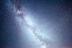 Vibrant night sky with stars and nebula and galaxy. Deep sky astrophoto.  Royalty Free Stock Photos