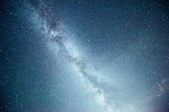 Vibrant night sky with stars and nebula and galaxy. Deep sky astrophoto.  Stock Photos