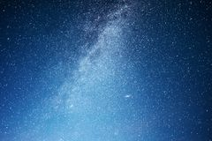 Vibrant night sky with stars and nebula and galaxy. Deep sky astrophoto Stock Images