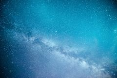Vibrant night sky with stars and nebula and galaxy. Deep sky astrophoto.  stock photography