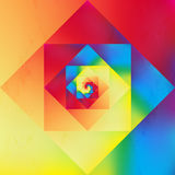 Vibrant optic art geometric pattern Stock Image