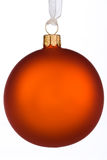 Vibrant orange Christmas Bauble Stock Images