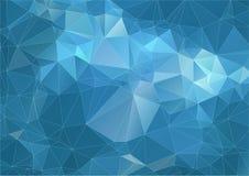 Vibrant orange polygonal background Stock Images