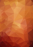 Vibrant orange polygonal background Stock Photography
