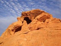 Vibrant Orange Rock Stock Photography