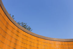 Vibrant Orange Tiles and Blue Sky Stock Photography