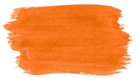 Vibrant orange watercolor abstract background, stain, splash paint, stain, divorce. Vintage paintings for design and decoration.