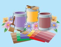 Vibrant Paint Colors Royalty Free Stock Photos