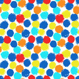 Vibrant painted background from rounds Stock Images