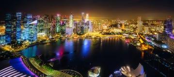 Singapore skyline background Royalty Free Stock Photo