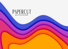 Vibrant papercut layers in different colors. Vector vector illustration