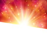 Vibrant party invitation or card with star burst Royalty Free Stock Photography