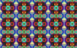 Vibrant pattern in blue, red and green for decorative and fabric Stock Image