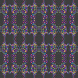 Vibrant Pattern. A seamless pattern made up of bright and vibrant colors on a dark grey background Royalty Free Illustration