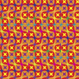 Vibrant pattern in warm tones. Vibrant seamless pattern in warm tones Royalty Free Stock Photo
