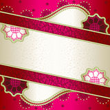 Vibrant pink banner inspired by Indian mehndi Royalty Free Stock Photography