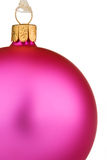 Vibrant pink Christmas Bauble Royalty Free Stock Images