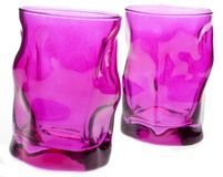 Vibrant Pink Glassware Stock Photos