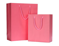 Vibrant Pink Shopping Bag gift bag Stock Photos