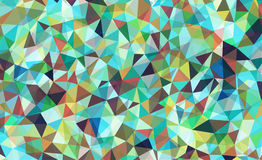 Vibrant polygonal background Royalty Free Stock Images