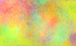 Vibrant polygonal background Stock Photos