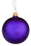 vibrant pourpré de Noël de babiole Image libre de droits