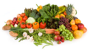 Vibrant Produce. This is a close-up of vegetables and fruits Stock Photos