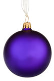 Vibrant purple Christmas Bauble. On isolated white Royalty Free Stock Image