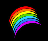 Vibrant rainbow symbol Stock Photo