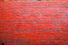 Vibrant Red Brick Wall Background Royalty Free Stock Image