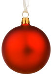 Vibrant Red Christmas Bauble Stock Images