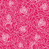 Vibrant red lace flowers seamless pattern Royalty Free Stock Image