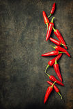 Vibrant red mexican hot chilli pepper Royalty Free Stock Photography