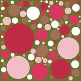 Vibrant Retro Color Polka Dot Background. In circles of different sizes and color Royalty Free Stock Photo