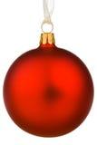 vibrant rouge de Noël de babiole Images stock