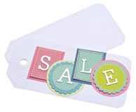 Vibrant Sale Tag Royalty Free Stock Photography