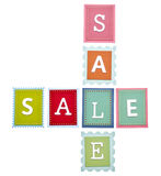 Vibrant Sale Tags Stock Image